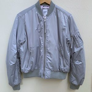 Gap silver bomber jacket